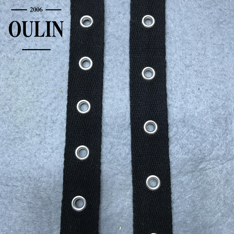 Cotton Fabric Ribbon Trim Blue Strap