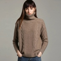 Latest design 100% pure cashmere knitwear ladies sweater