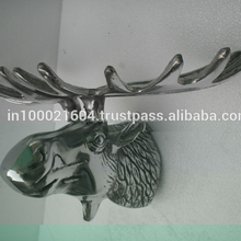 artificial aluminium wall mounted moose head for home decoration