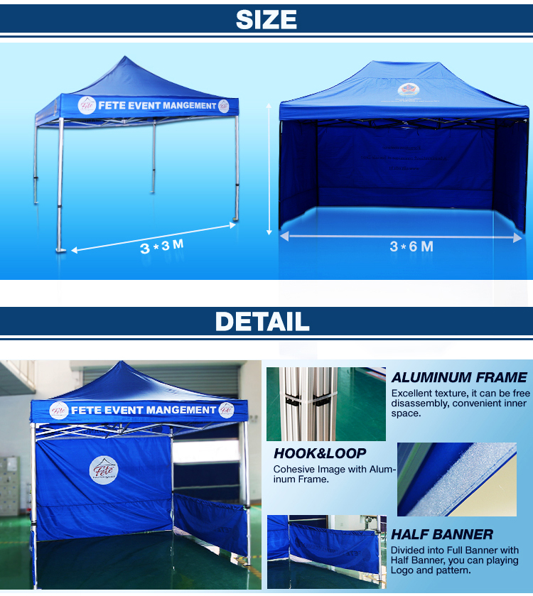 Events Sports Custom Design Canopy Printing Cheap Printed Tent