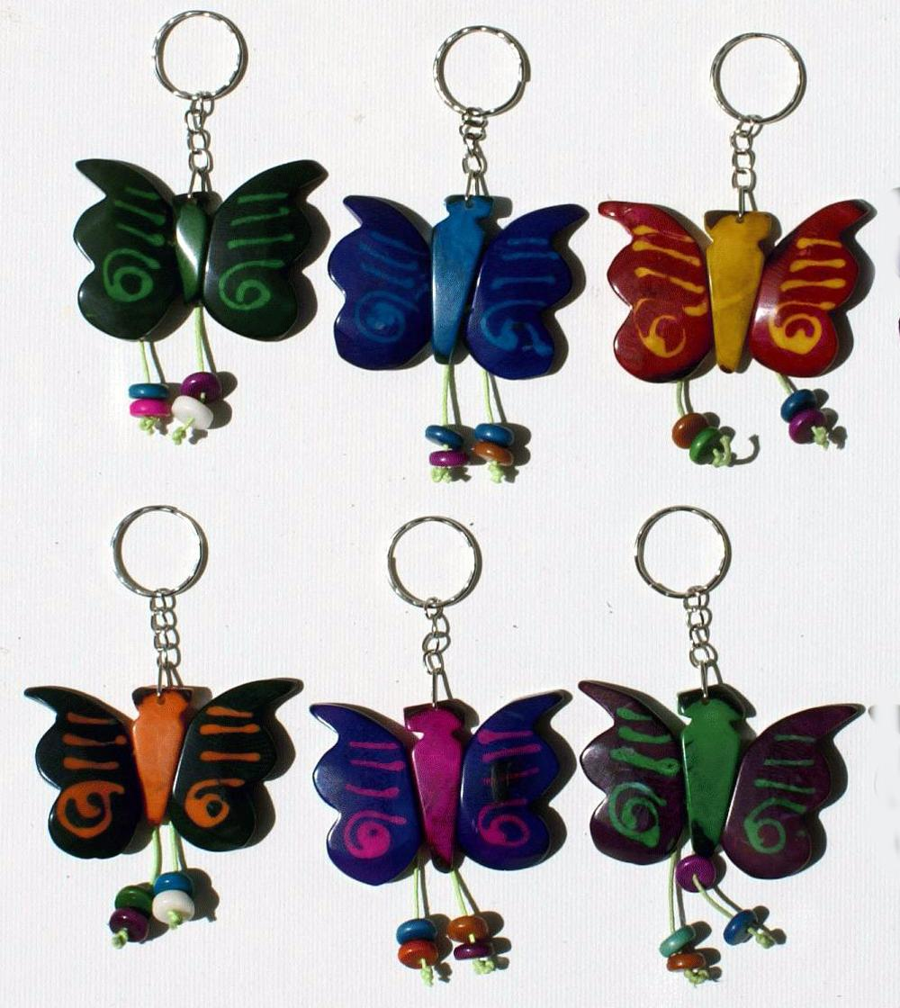 120549f20cb3fa Butterfly Tagua Nut Keychains Handcarved Keyrings, Handmade Carvings Art  and Crafts Ecuador