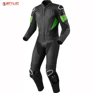 Sublimated Sports Wear Custom Design Best Quality Genuine Leather Suits Soft Motorbike jacket