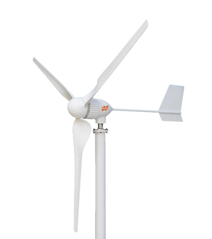 MarsRock Waterproof Wind Turbine with Controller 2.5m/s Start-up Wind Speed Three Phase Wind Turbine Generator with 800Watt/1000Watt 24V/48V 3 Blades Windmill (1000W 24V )