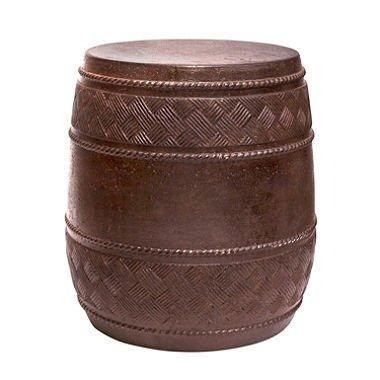 Durable Mactan Cast Stone Drum Table (Travertine)