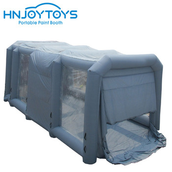 Durable with carbon filters PVC material inflatable station peinture spray booth for sale usa