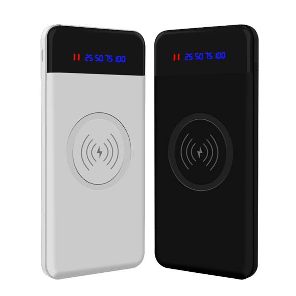 Ultra Slim Mini Wireless Battery Charger Power Bank 10000mah 20000mah Small Mobile Phone Portable Qi Wireless Charger Power Bank