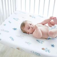 Pure Jersey Cotton custom printed fitted sheets for baby bed crib and cot - Low Price
