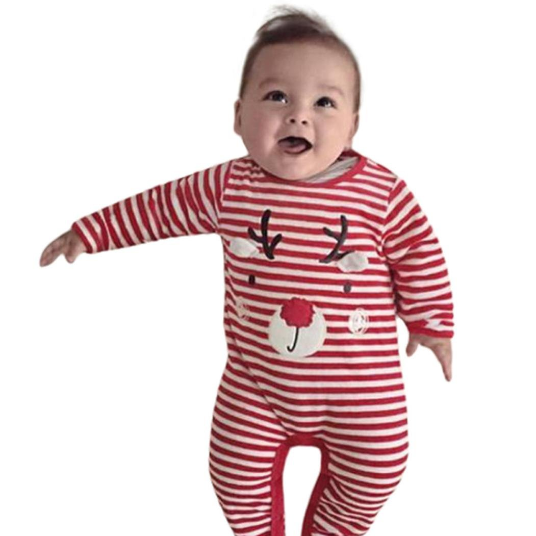 2d21374ec Get Quotations · Baby Christmas Jumpsuit,Todaies Baby Deer Christmas Boys Girls  Outfits Clothes Romper Jumpsuit