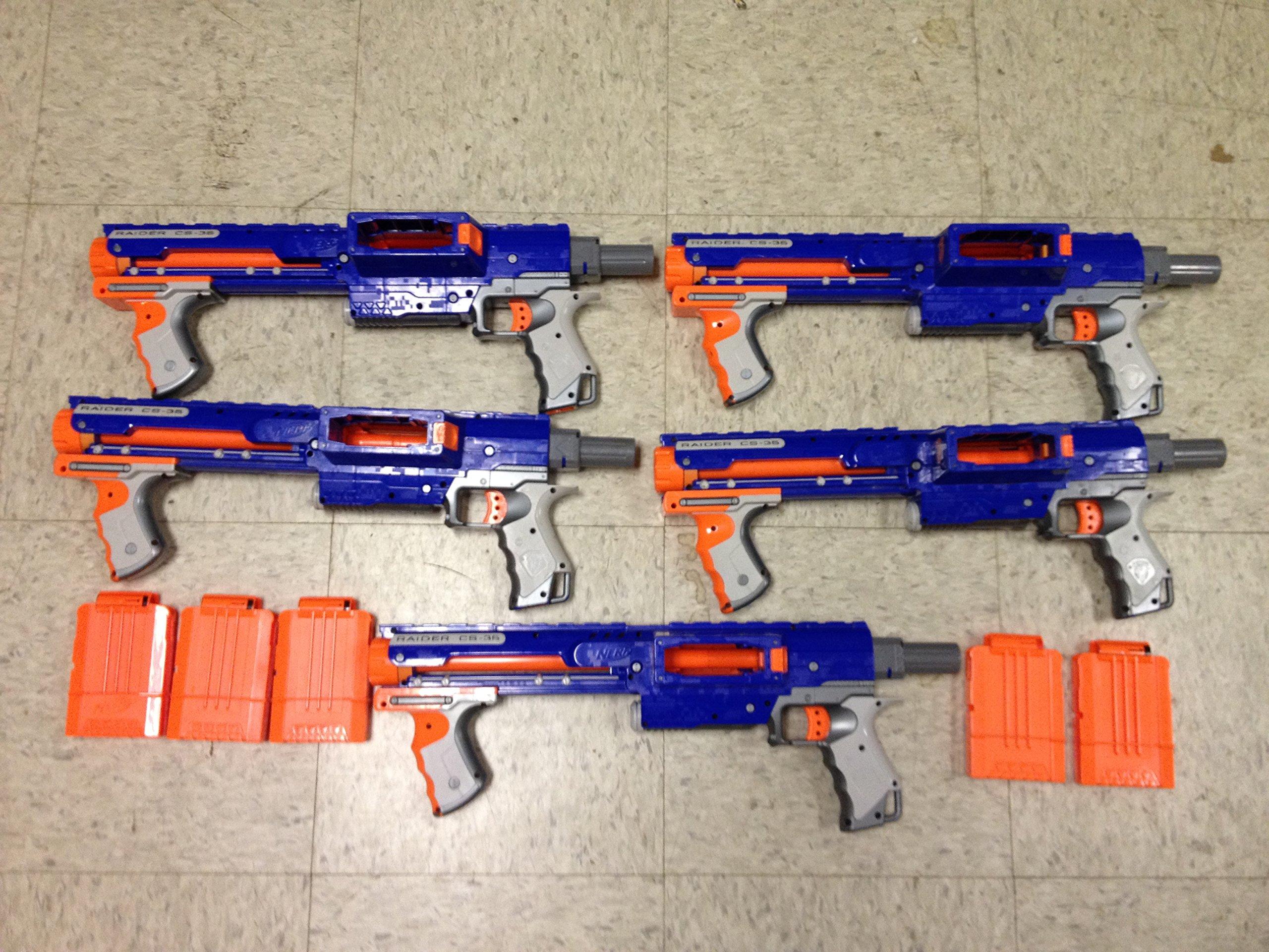 Nerf N-Strike Raider Rapid Fire CS-35 Dart Blaster (Includes 5 guns w 5 ammo clips)