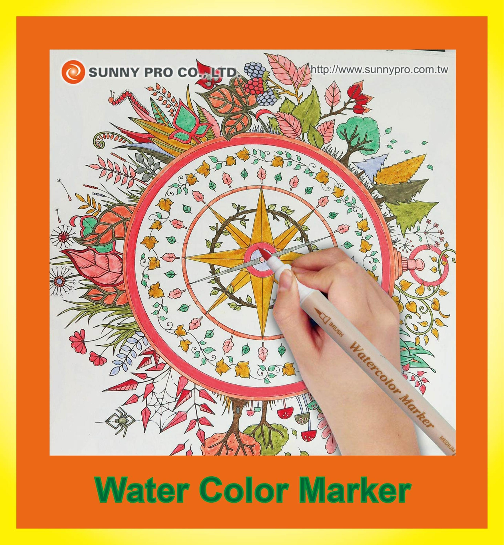 Bulk Big Best Seller Quality Tot 15mm Jual Washable Marker Pen Grosir The Wet Brush Stained Glass Green Es0288