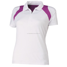 Promotional best quality cheap customized logo women polo t-shirt