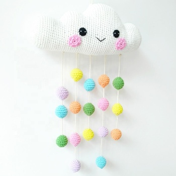 Colorful Nursery Decoration Baby Crib Mobile Hanger Stroller Swinging Cloud Mobile Toys For Babies Gift