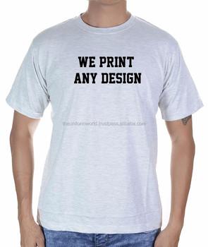 558715ab953 Light Grey Round Neck T Shirt Plain Blank For Unisex