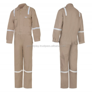 Factory custom Cotton men work uniform overall hi vis coverall workwear
