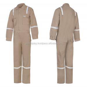 Factory custom Cotton men work uniform overall hi vis coverall workwear