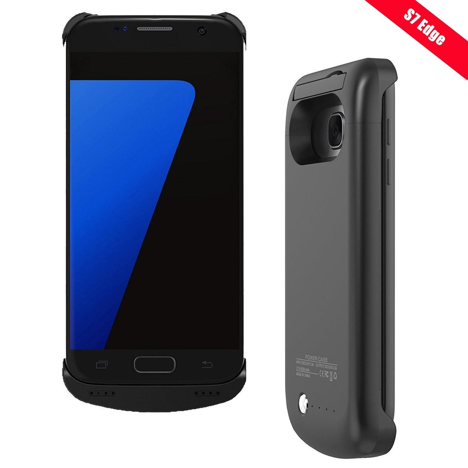 best authentic 4e673 16fae Buy Galaxy S7 Edge Battery Case, Trianium Atomic S Pro Charging ...