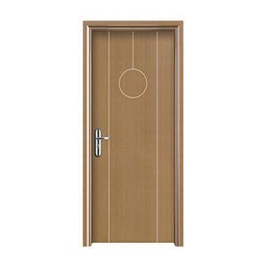 Factory whole sale Exterior Waterproof Wood Plastic Composite Door WPC Door bathroom door
