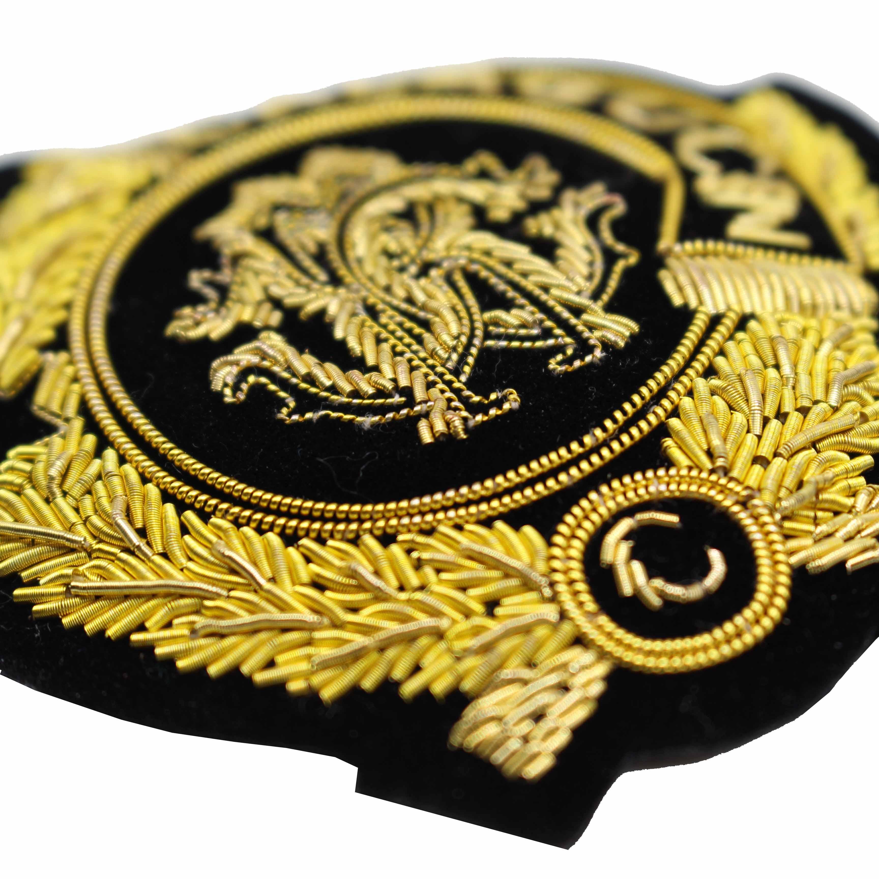 Gold Bullion Wire Blazer Badge - Buy Embroidered Bullion Wire Blazer  Badges,Military Bullion Badges,Uk Blazer Badge Product on Alibaba com