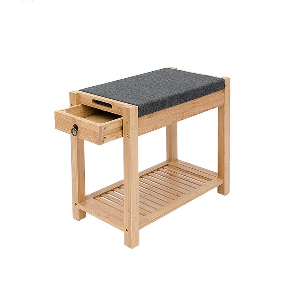 European Style Wood Storage Sofa Shoe Stool Storing Rack