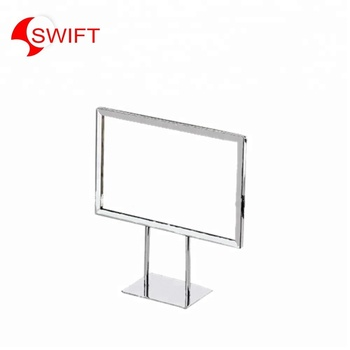 Retail store advertising metal signage price tag poster holder display stand