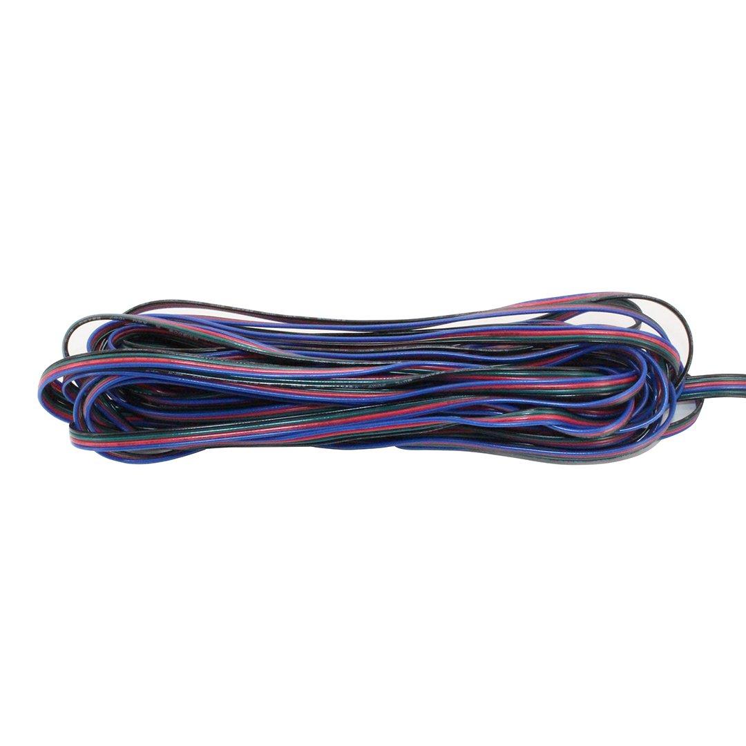 4 Pin Led Cable,10PCS 10mm 4 Pin Male Female PCB Connector RGB 5050 3528 LED Strip Light Cable