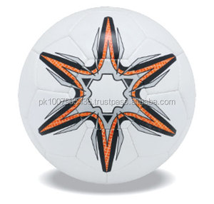 Cheap 32 panels hand stitched Promotional Football Soccer ball with latex bladder and mirror surface