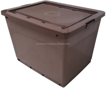 Rega Plastic Storage Box With Lock / Container With Wheels And Lid 904  (400LT)