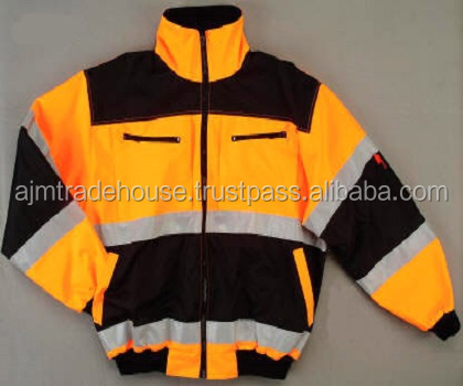 Safety High Visibility 3M Reflective Safety Work/ visibility Reflective Winter Warm Safety Jacket blue safety reflective jacket