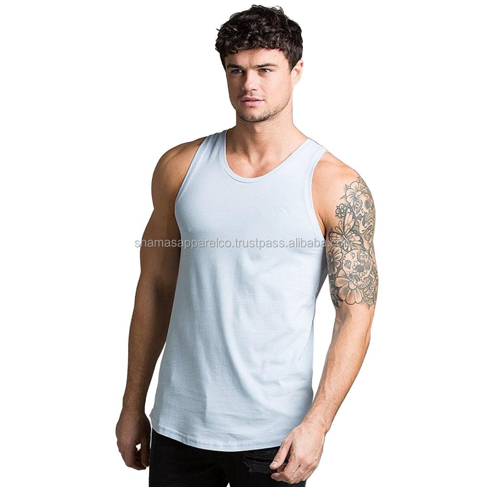 78c9d2a5f8831 Bodybuilding Gym Singlet Stringer Vests Plain Cotton Gym Tanktop ...