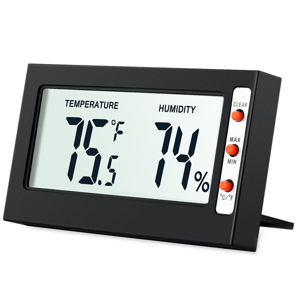 AMIR Indoor Digital Hygrometer Thermometer, Humidity Monitor with Temperature Gauge Humidity Meter, LCD Screen Multifunctional Hygrometer for Baby, Kids, Home, Car, Office, Etc. (Mini)