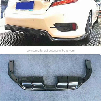 For Honda 10th Generation Civic FC SC-Style Rear Diffuser Middle Twin Exhaust