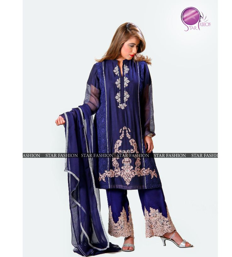Pakistani/Indian Embroidered Hand Touched Fancy Shalwar & Kameez Elegant party wear three pieces suits.