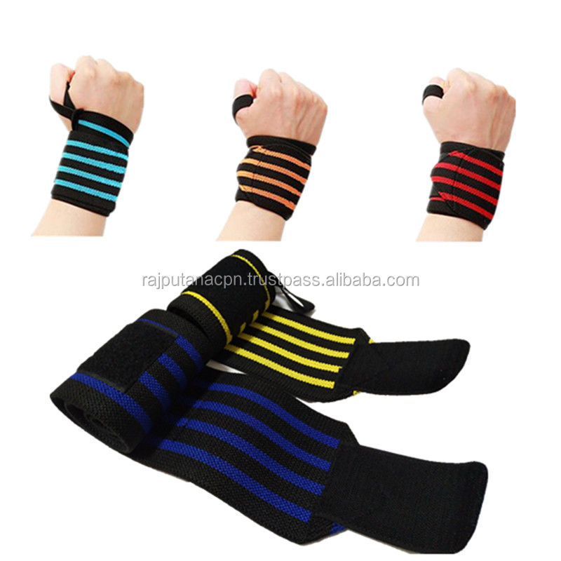 Weight Lifting Wrist wraps Support Wraps Custom Brand logo straps grip hand wrist protection