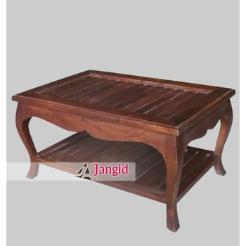 Indian Modern Mango Wooden Table With Curved Leg German Style Wood Coffee Tables Side