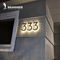 Manufacturer professional custom back led light house numbers