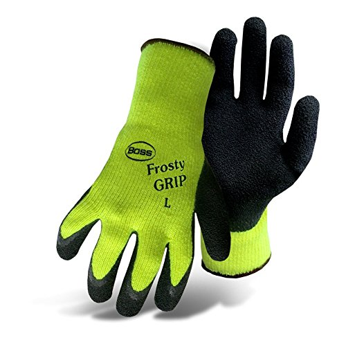 BOSS 8439X X-LARGE FROSTY GRIP INSULATED RUBBER COATED CHEMICAL GLOVES 5075296