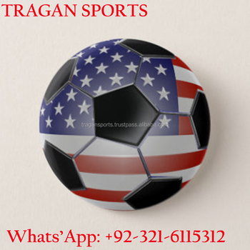 Top High Quality Pinback Button USA Country International Flag Soccer Ball
