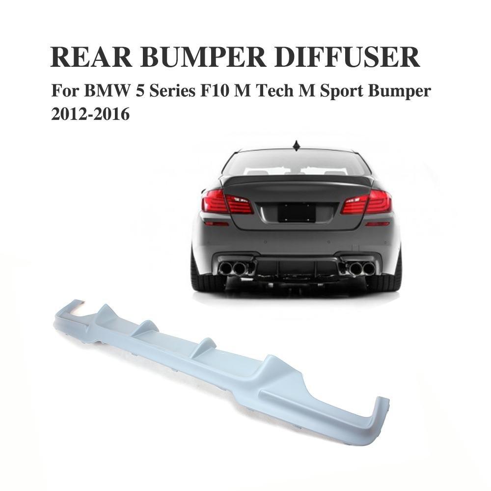 JCSPORTLINE Rear Diffuser for BMW 5 Series F10-M sport bumper 2010-2013