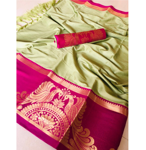 Lifestyle Patola Silk Cotton Work Saree Fancy Sari / Saree