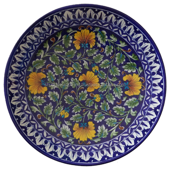 Decorative Wall Hanging Blue Pottery Plates