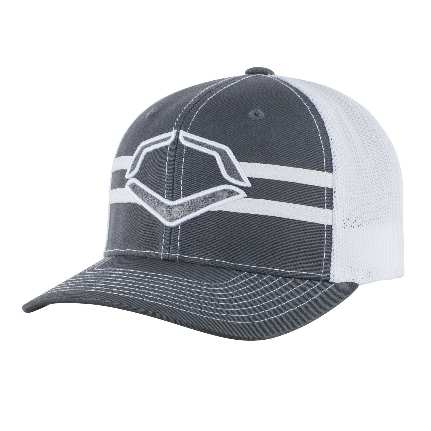 41285dd3efc68 Get Quotations · Wilson Sporting Goods Evoshield Grandstand Flexfit Hat,  Charcoal/White, Small/Medium (