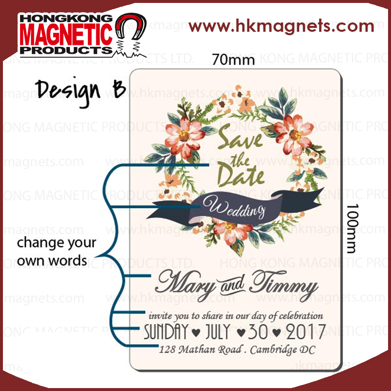 customized magnet Save the date wedding magnet