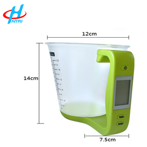 HY-CP cheap china digital kitchen measuring plastic cup scale