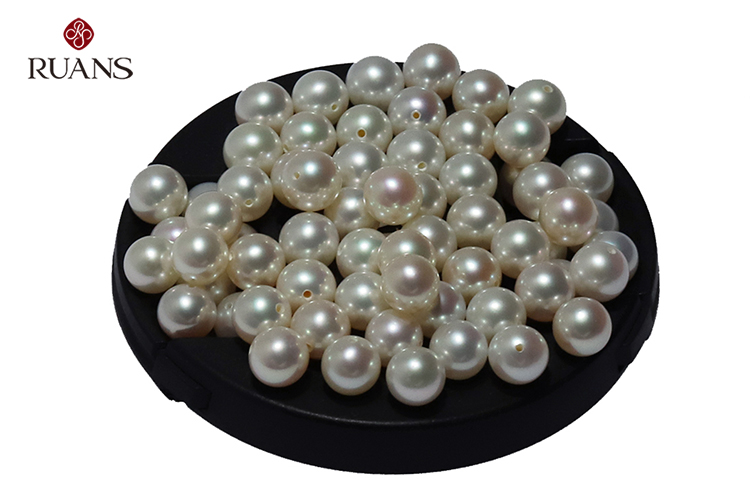 7.5-8 mm AAA Top Grade Round White Good Luster Pearls for K Gold Earring Jewellery