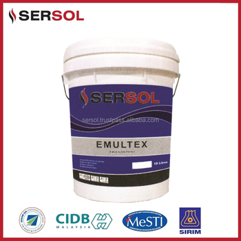 Emultex Arcrylic Emulsion Paint Coating In Bucket From