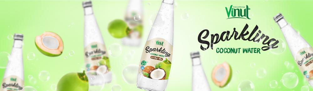 330ml Glass bottle Real Sparkling Coconut water with Lime juice