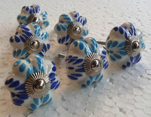 High quality hand painted light color pumpkin shape ceramic door knobs