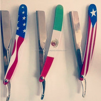 American Flag straight razor/High quality private label shaving razor/straight razor