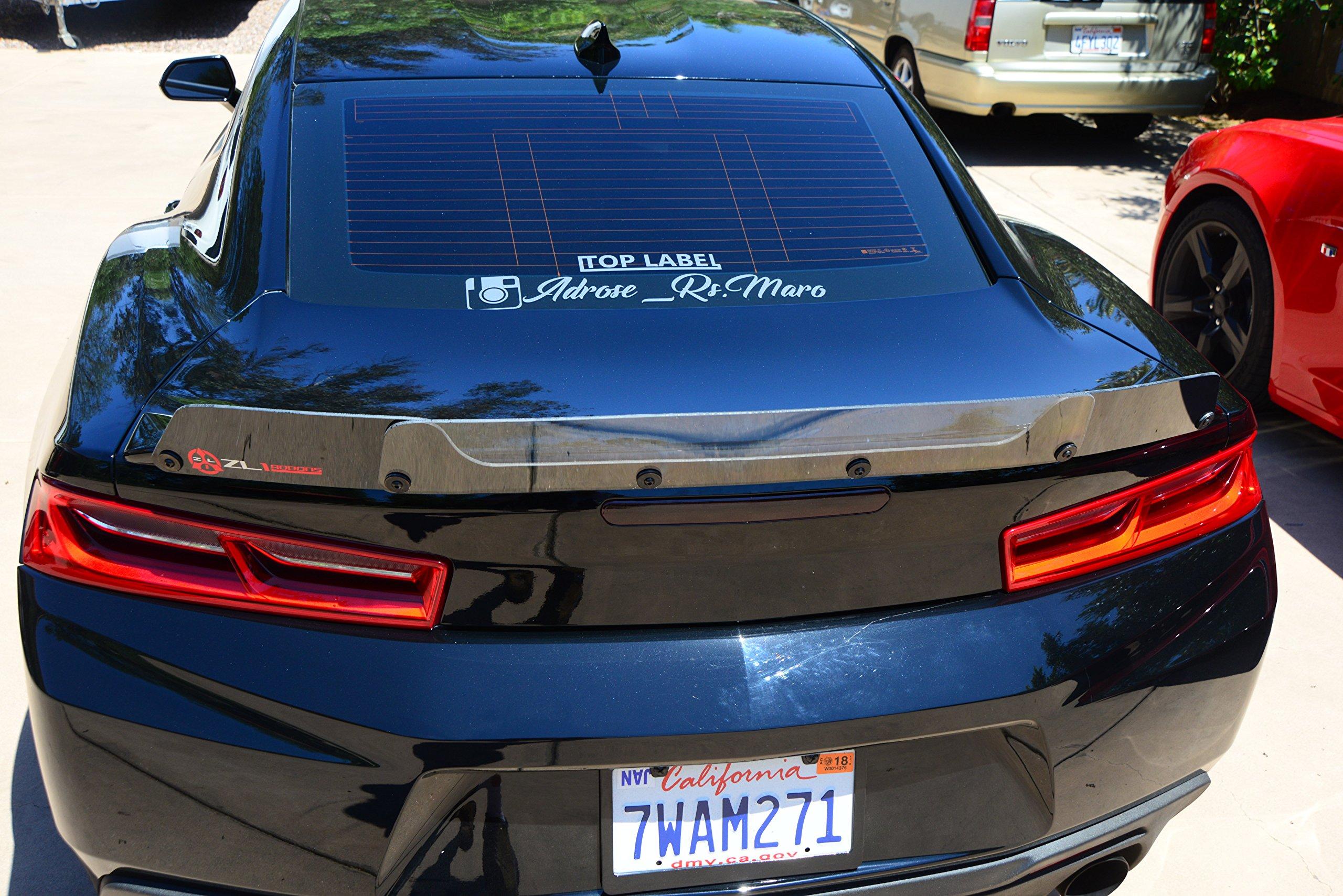Fit 14-15 Chevrolet Camaro ZL1 Style Rear Wing Trunk Lip Spoiler W// Wickerbill