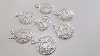 Seven chakra engraved logo symbol silver plated brass pendant set seven chakra engraved logo symbol silver plated brass pendant set aloadofball Choice Image
